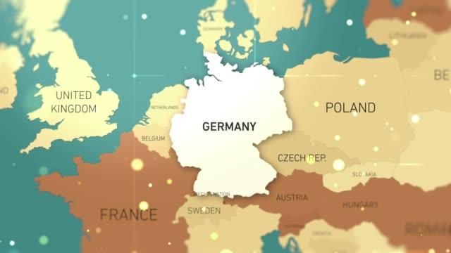 germany on world map stock video - hiroshima filmów i materiałów b-roll