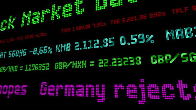 vídeos de stock e filmes b-roll de germany rejects may brexit transition hopes - nyse crash