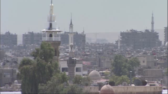 vídeos de stock e filmes b-roll de gerneral views of  damascus and  aleppo city in syria before syrian civil war.  aleppo-damascus/syria 09/30/2015 - síria