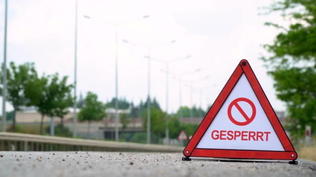 Gesperrt (Blocked) - Traffic Sign - German