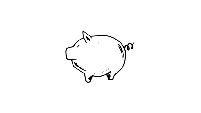vidéos et rushes de gestating tirelire cochon rose - tirelire