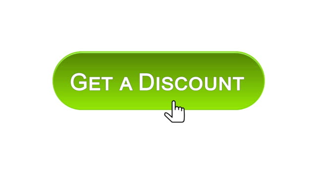 Get a discount web interface button clicked with mouse, different color choice