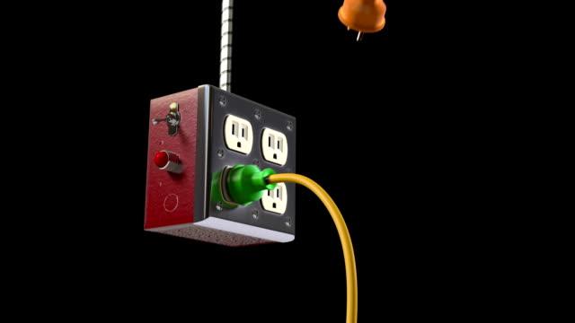 vidéos et rushes de gardez contact avec le monde - vidéos de rallonge électrique