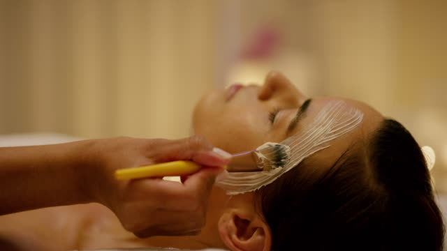 get ready to be beautified - spa facial stock videos & royalty-free footage