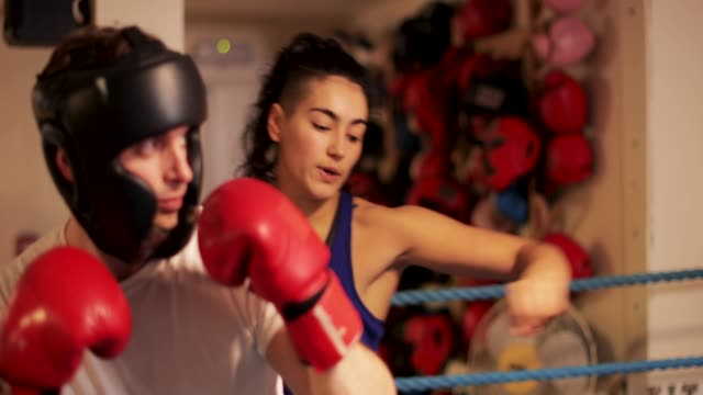 Getting Proper Punching Form With Woman Instructor video