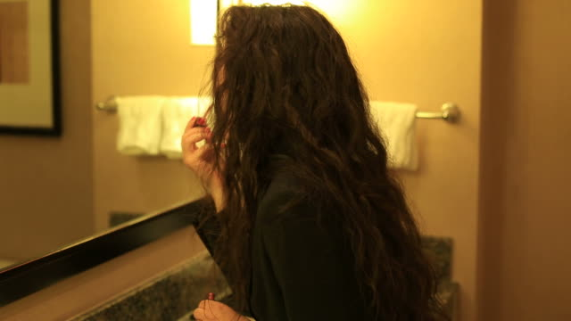 Getting ready Businesswoman, staying at hotels and going to work concepts lip liner stock videos & royalty-free footage