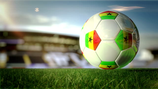 Ghanaian Ball Turn At Stadium - Loopable video