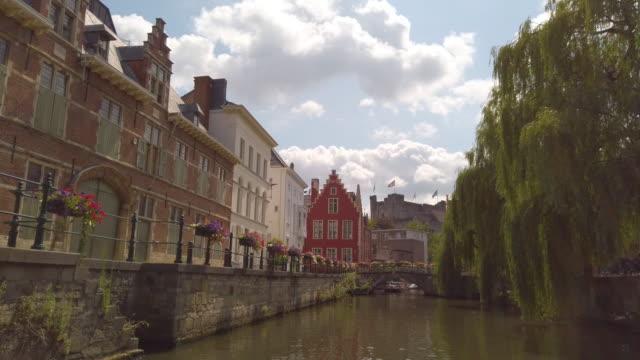 ghent, belgium - belgio video stock e b–roll