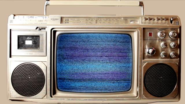 ghettoblaster with tv video