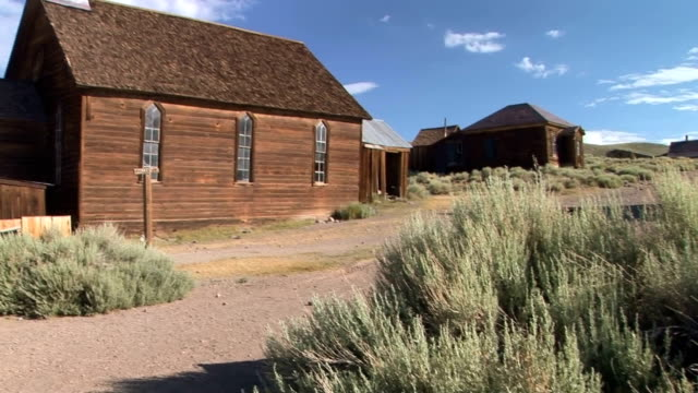 Ghost Town Church Abandoned church in the ghost town of Bodie wild west stock videos & royalty-free footage