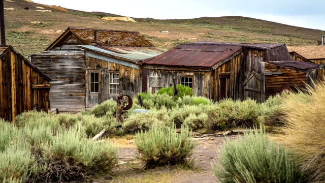 Ghost Town Abandoned Houses in Bodie ghost town California wild west stock videos & royalty-free footage