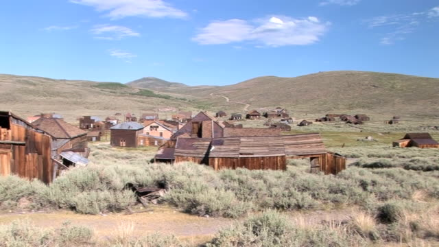 Ghost Town The abandoned ghost town of Bodie wild west stock videos & royalty-free footage