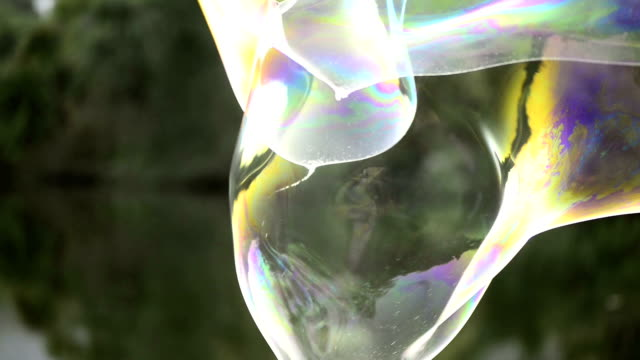 Giant Bubble Giant soap bubbles in the park. Shot with a Nikon D800 camera. giant fictional character stock videos & royalty-free footage