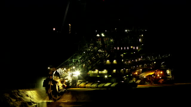 TIME LAPSE: Giant Bucket-Wheel Excavator At Work
