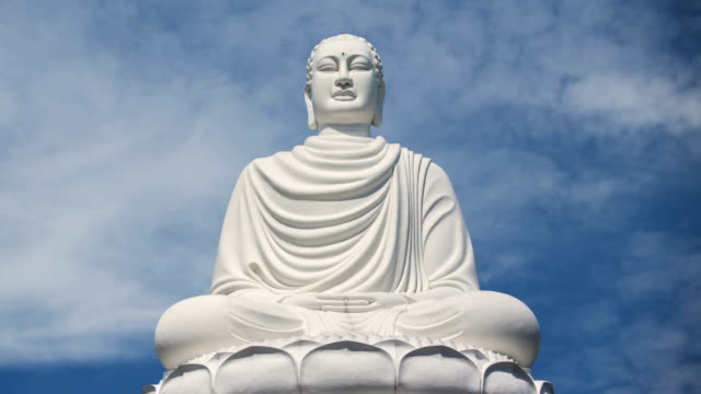 Giant Buddha statue time lapse video