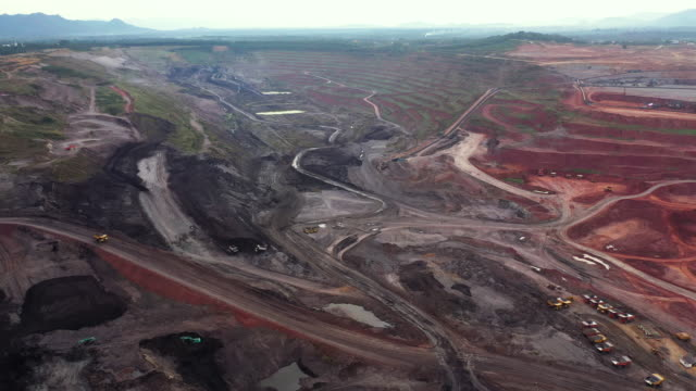 Giant Coal mine in aerial view