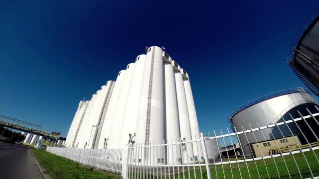 Giant Grain Storage Silos video