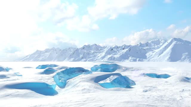 Rocas de hielo gigante - vídeo