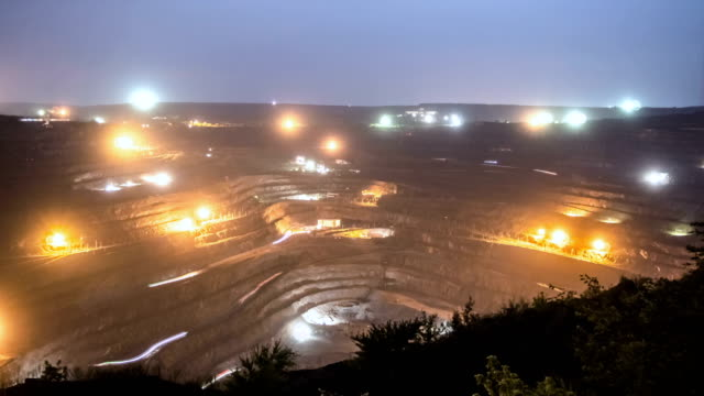 Giant open pit time lapse