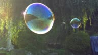 istock Giant Soap Bubbles Hanging in the Air at Sunset Backlit View 1271162460