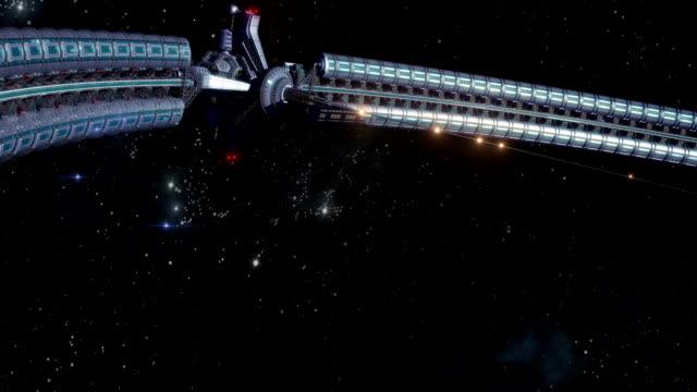 vidéos et rushes de roue géante de l'espace qui entoure la terre - science et technologie