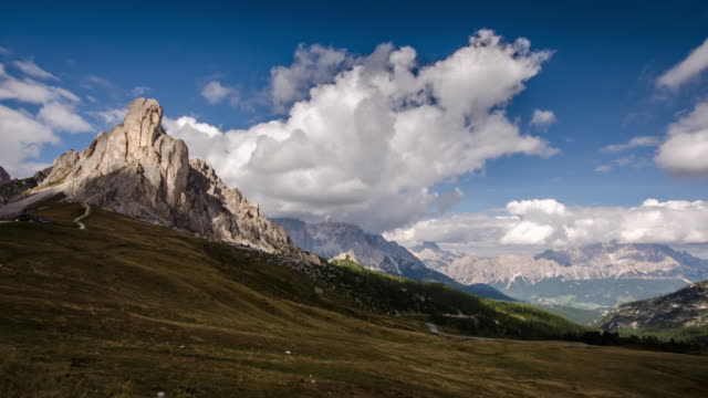 Giau Pass European alps mountain range , Time Lapse , dolomites south tyrol Italy video