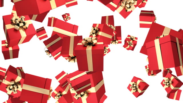 gift box animation - clip art video stock e b–roll