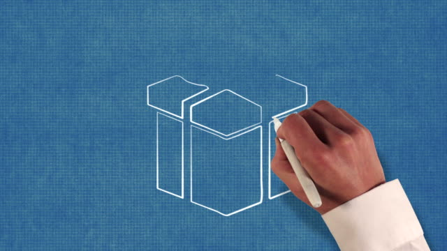 Gift Box Blueprint Stop-Motion Style Animation