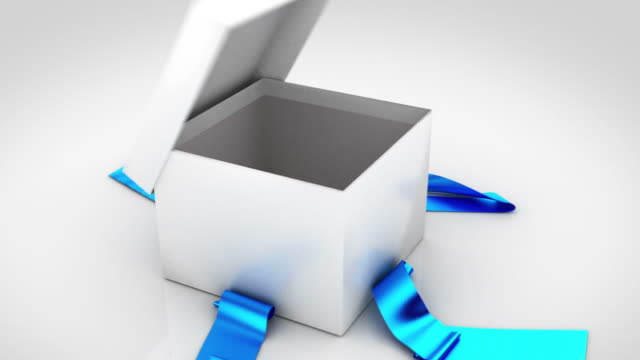 Gift box opening. 6 colors in 1.