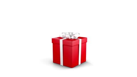 vidéos et rushes de coffret cadeau d'ouverture - cadeau