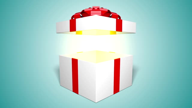 gift box opening - mistero video stock e b–roll