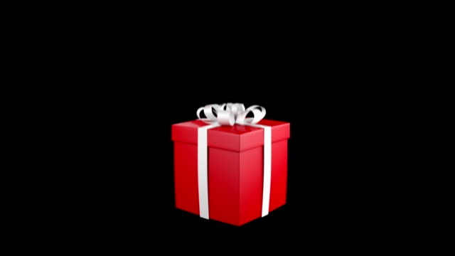 Gift Box Opens and light shine