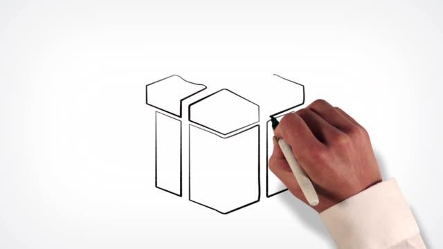 ギフトボックスホワイトボードストップモーションアニメーションスタイル - アイコン プレゼント点の映像素材/bロール