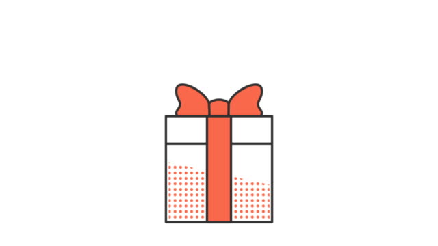 ギフト ボックスと赤の弓 - アイコン プレゼント点の映像素材/bロール