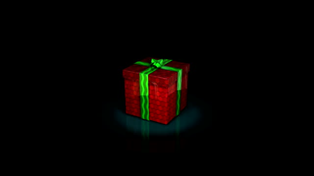 gift box with ribbon video