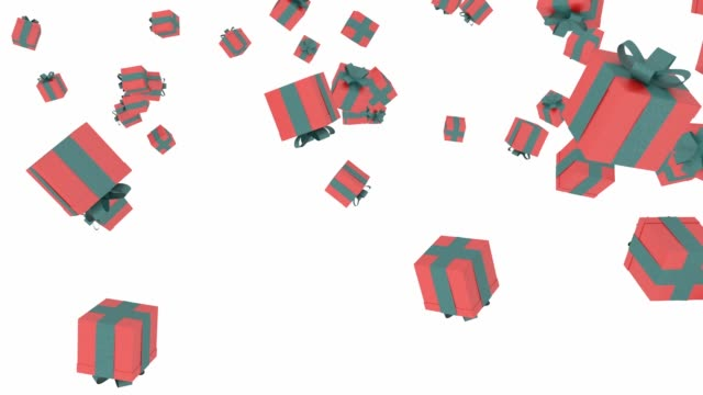 Gift boxes falling video