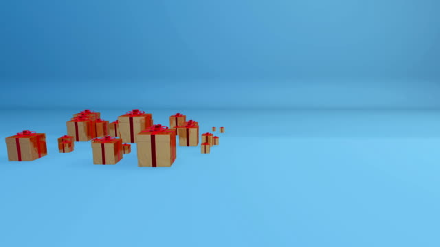 Gift Boxes, Holiday Background video