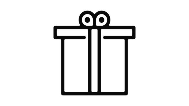 ギフト ライン モーション グラフィック - アイコン プレゼント点の映像素材/bロール