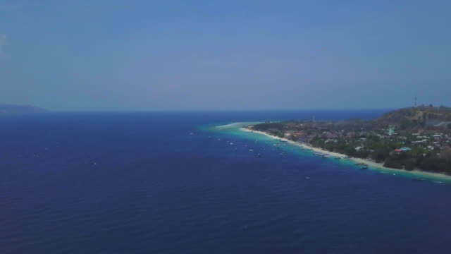 Gili Island in Indonesia Gili Island in Indonesia from drone point of view. photographic slide stock videos & royalty-free footage