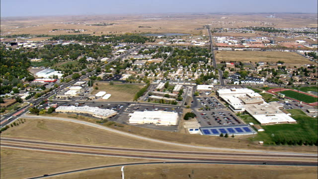 Gillette  - Aerial View - Wyoming, Campbell County, United States video