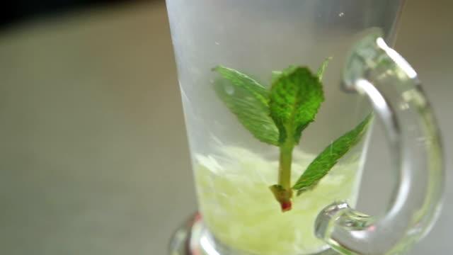 ginger drink close up video
