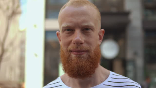 ginger guy close outdoors