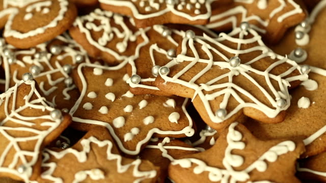 Gingerbead Cookies Gingerbread Christmas cookies cookie stock videos & royalty-free footage