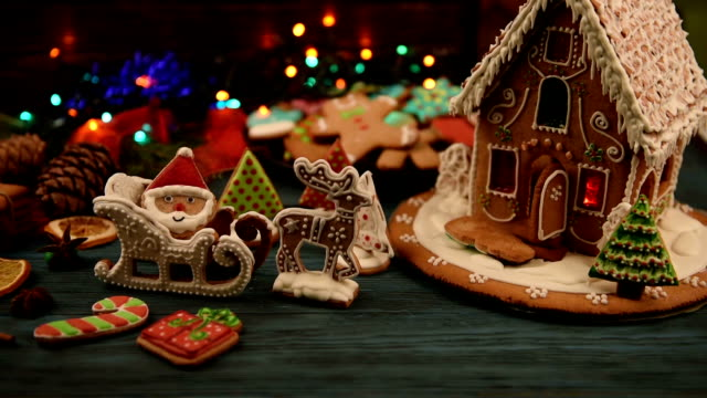 Gingerbread house with lights video