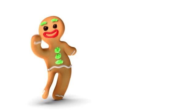 gingerbread man is dancing gently - pepparkaka bildbanksvideor och videomaterial från bakom kulisserna