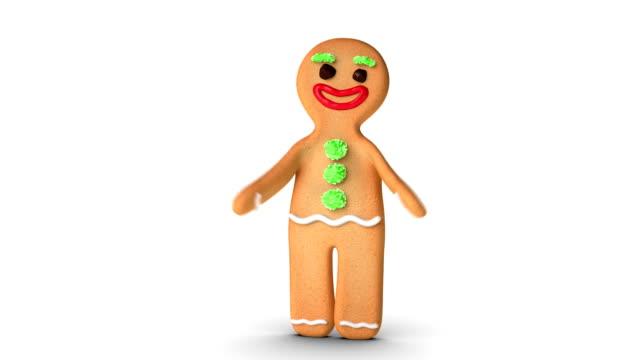 gingerbread man is exercising - pepparkaka bildbanksvideor och videomaterial från bakom kulisserna