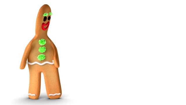 gingerbread man is reconsidering - pepparkaka bildbanksvideor och videomaterial från bakom kulisserna