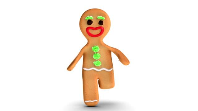 gingerbread man is running - pepparkaka bildbanksvideor och videomaterial från bakom kulisserna