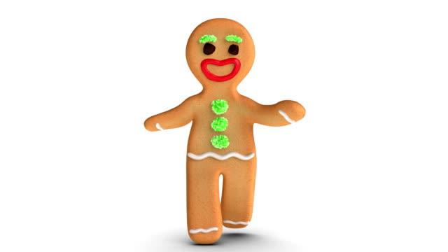 gingerbread man is walking - pepparkaka bildbanksvideor och videomaterial från bakom kulisserna