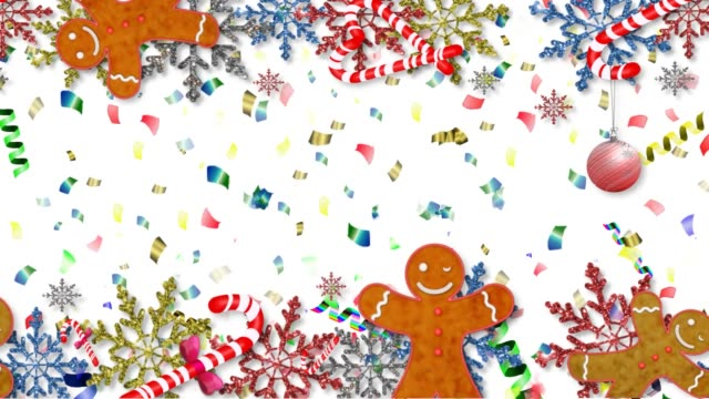 gingerbread man beautiful video with gingerbread man and snowflakes on a beautiful background gingerbread man stock videos & royalty-free footage